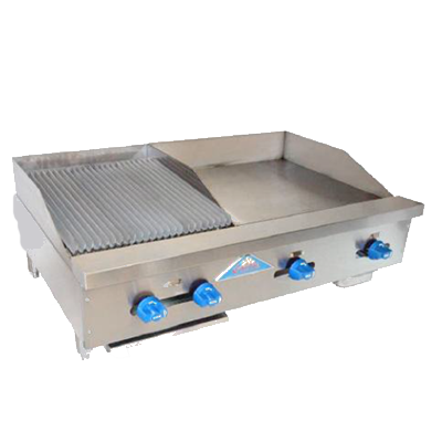 Comstock-Castle FHP42-24-1.5LB griddle / charbroiler, gas, countertop