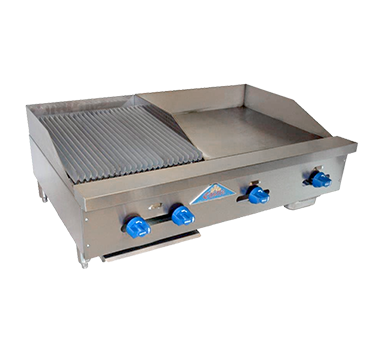 Comstock-Castle FHP42-24T-1.5RB griddle / charbroiler, gas, countertop