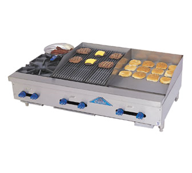 Comstock-Castle FHP48-18-1.5RB griddle / charbroiler, gas, countertop