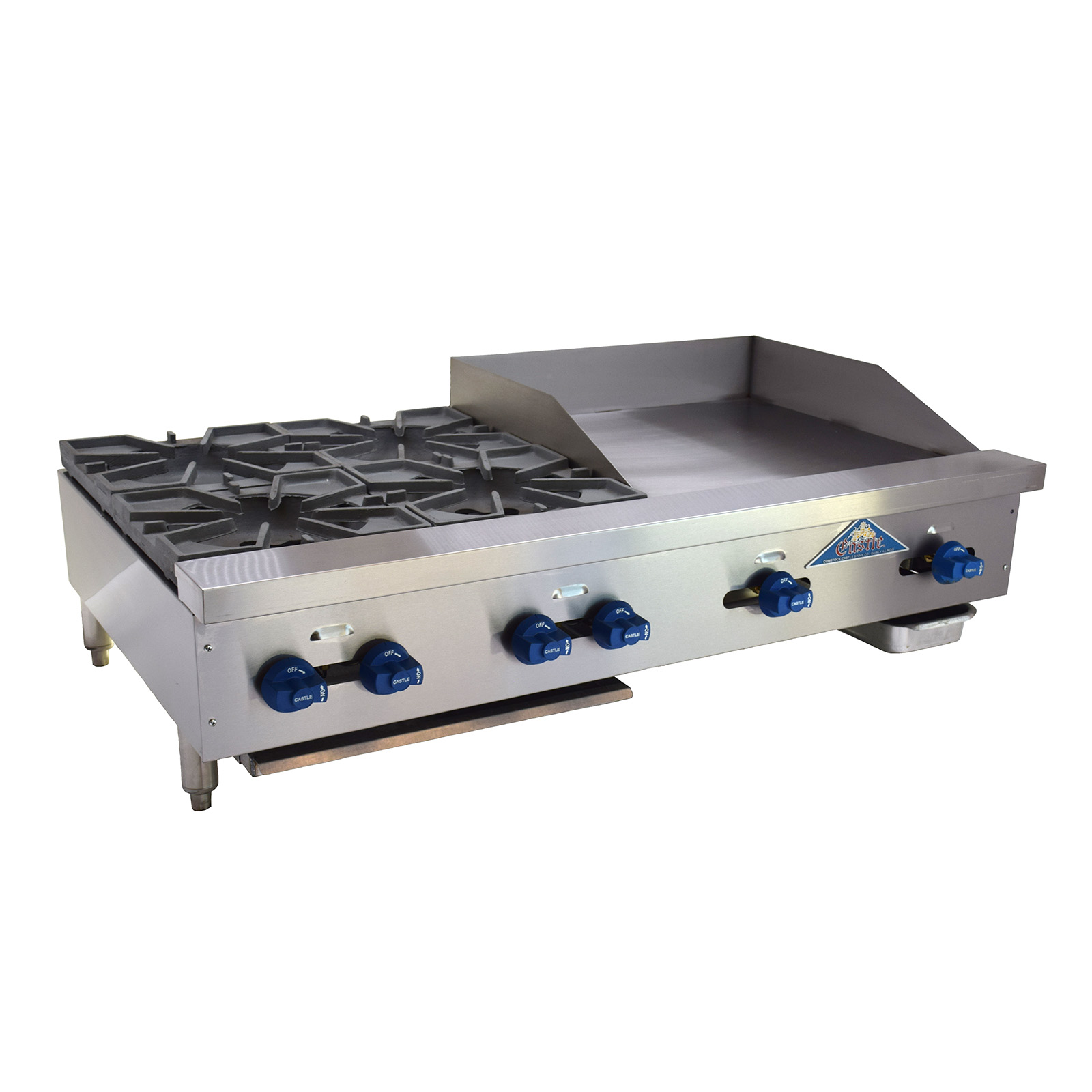 Comstock-Castle FHP48-24-2LB griddle / charbroiler, gas, countertop