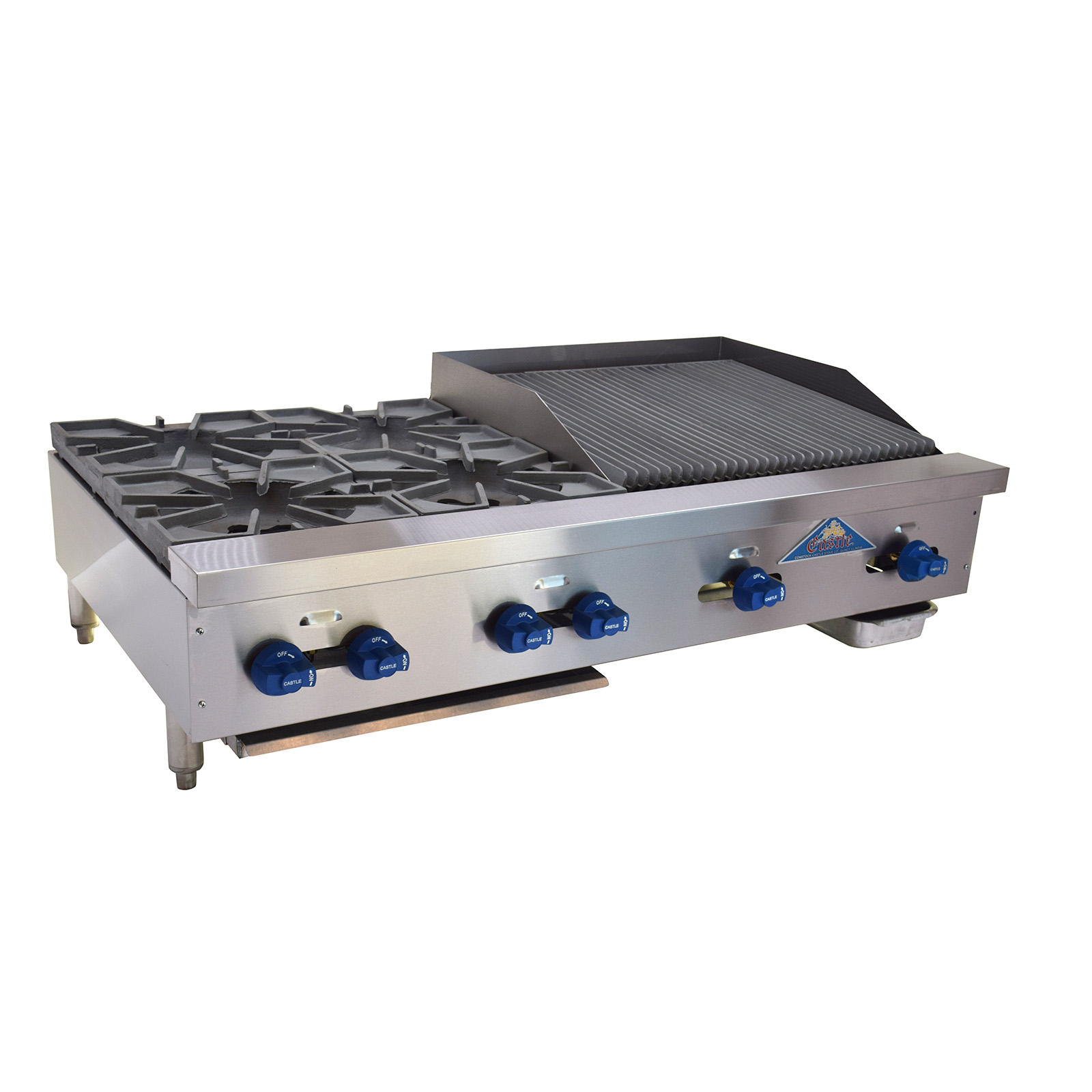 Comstock-Castle FHP48-2RB charbroiler / hotplate, gas, countertop