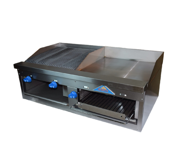 Comstock-Castle FHP48-2RB-24B griddle / charbroiler, gas, countertop