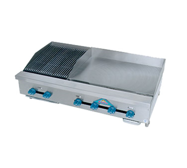 Comstock-Castle FHP48-30T-1.5LB griddle / charbroiler, gas, countertop
