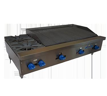 Comstock-Castle FHP48-3LB charbroiler / hotplate, gas, countertop