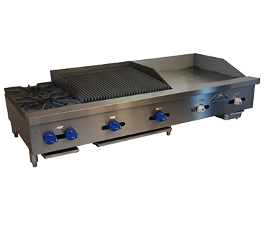 Comstock-Castle FHP60-24T-2RB griddle / charbroiler, gas, countertop