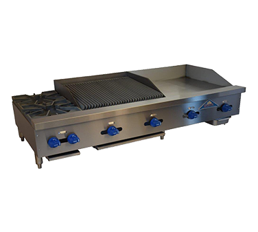 Comstock-Castle FHP72-30-2.5RB griddle / charbroiler, gas, countertop