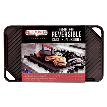 Chef Master 90202 cast iron grill / griddle plate