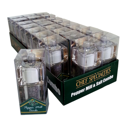 Chef Specialties 01551 salt / pepper shaker & mill, combo