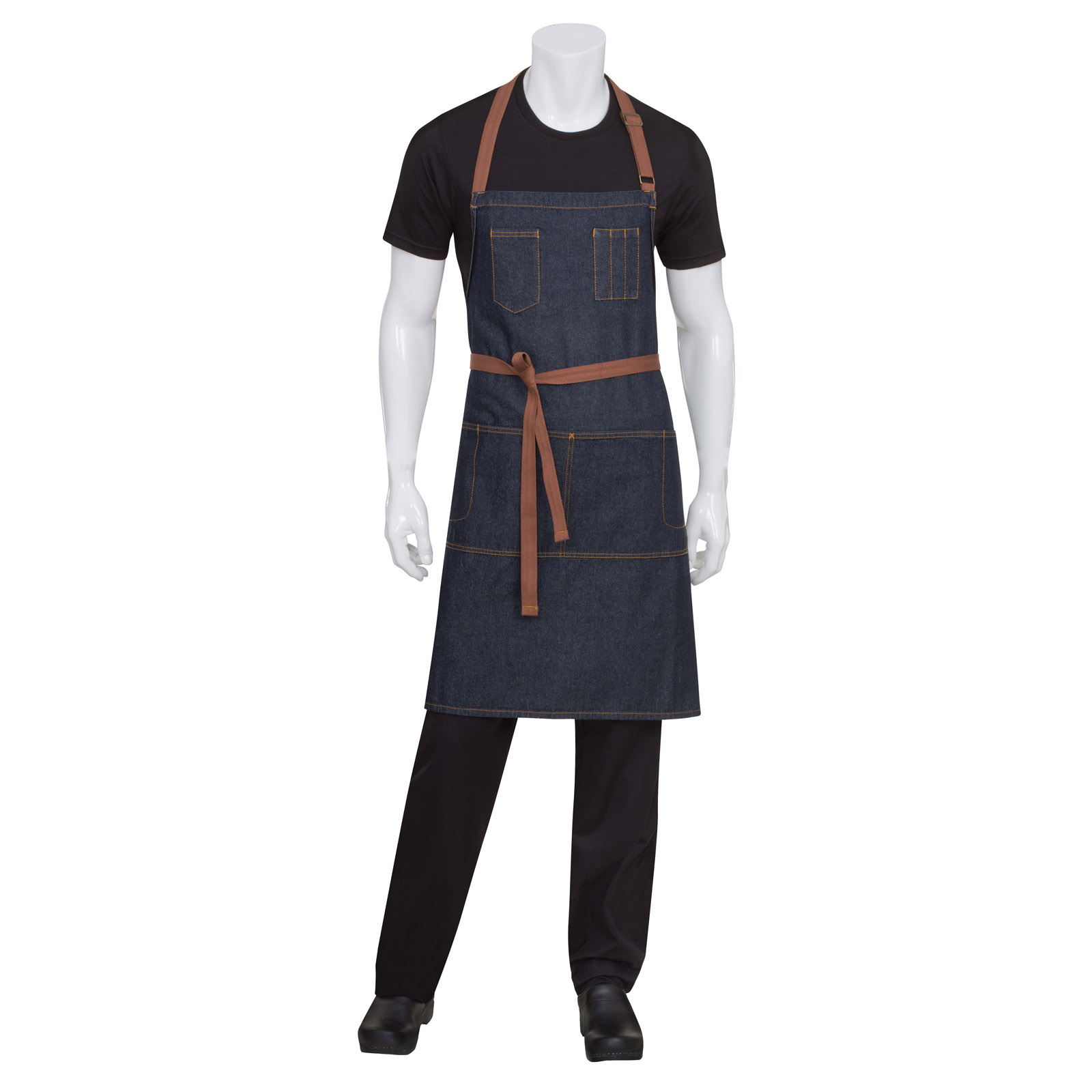 Chef Works AB035IBL0 bib apron