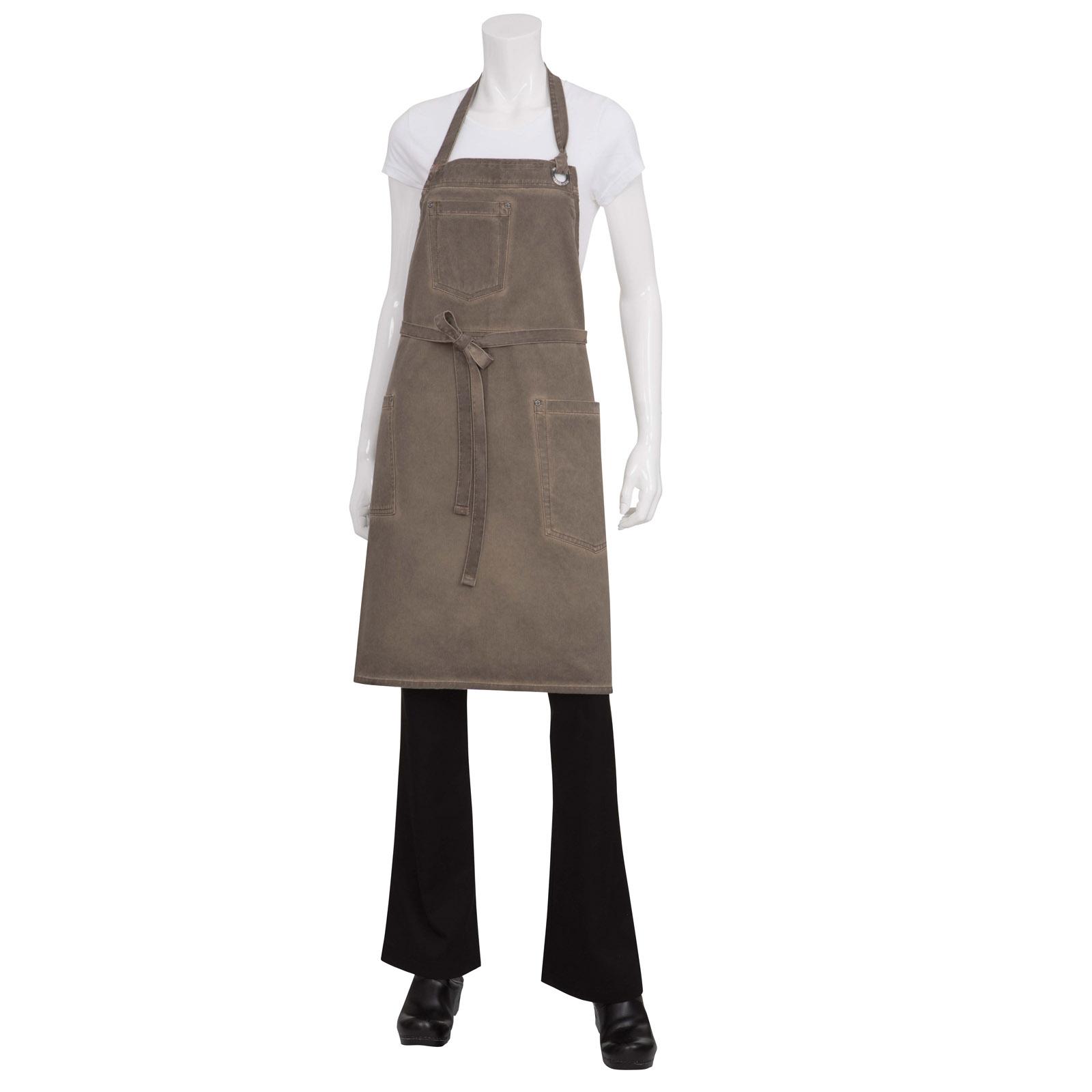 Chef Works ABAQ054EAB0 bib apron
