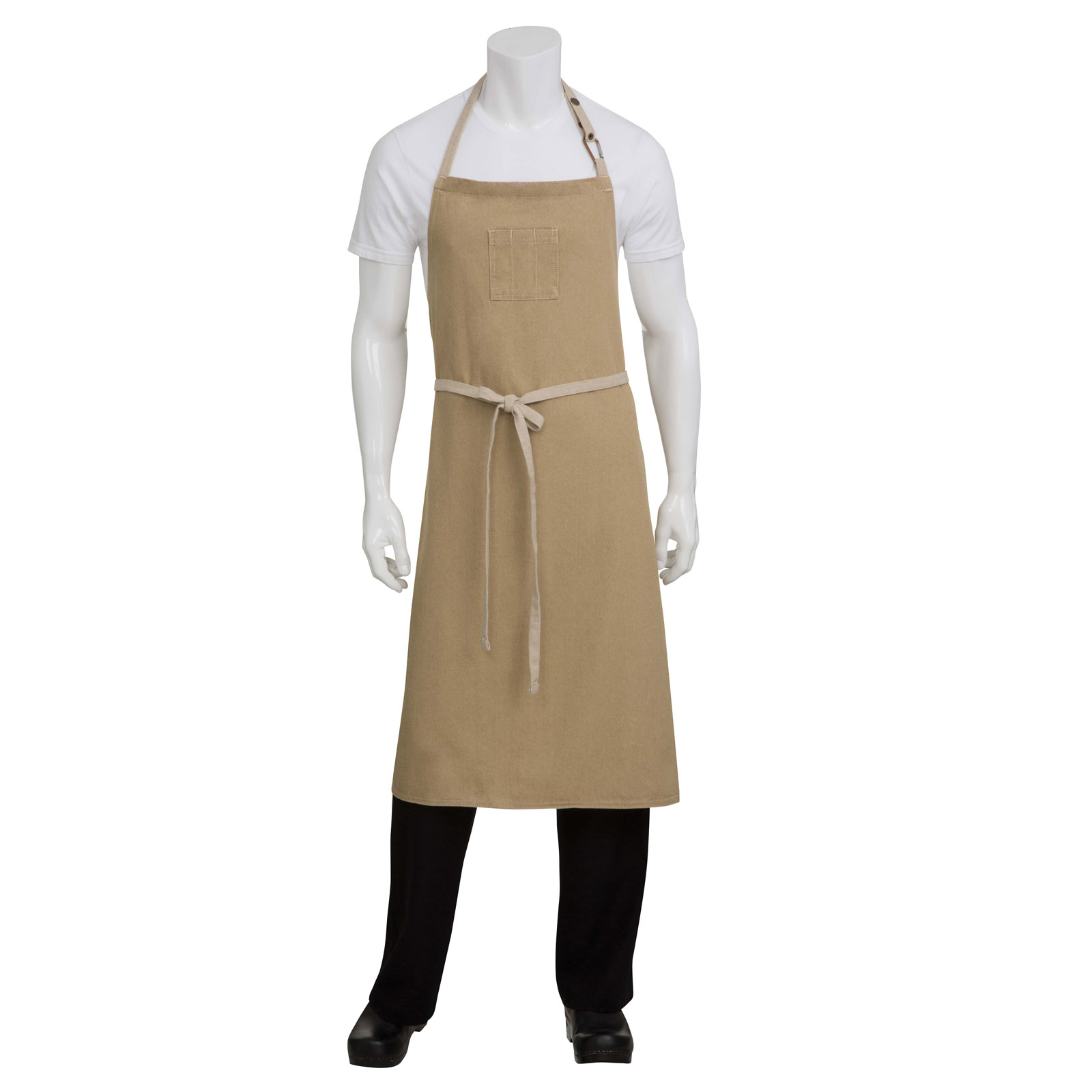 Chef Works ABCCD006NAT0 bib apron