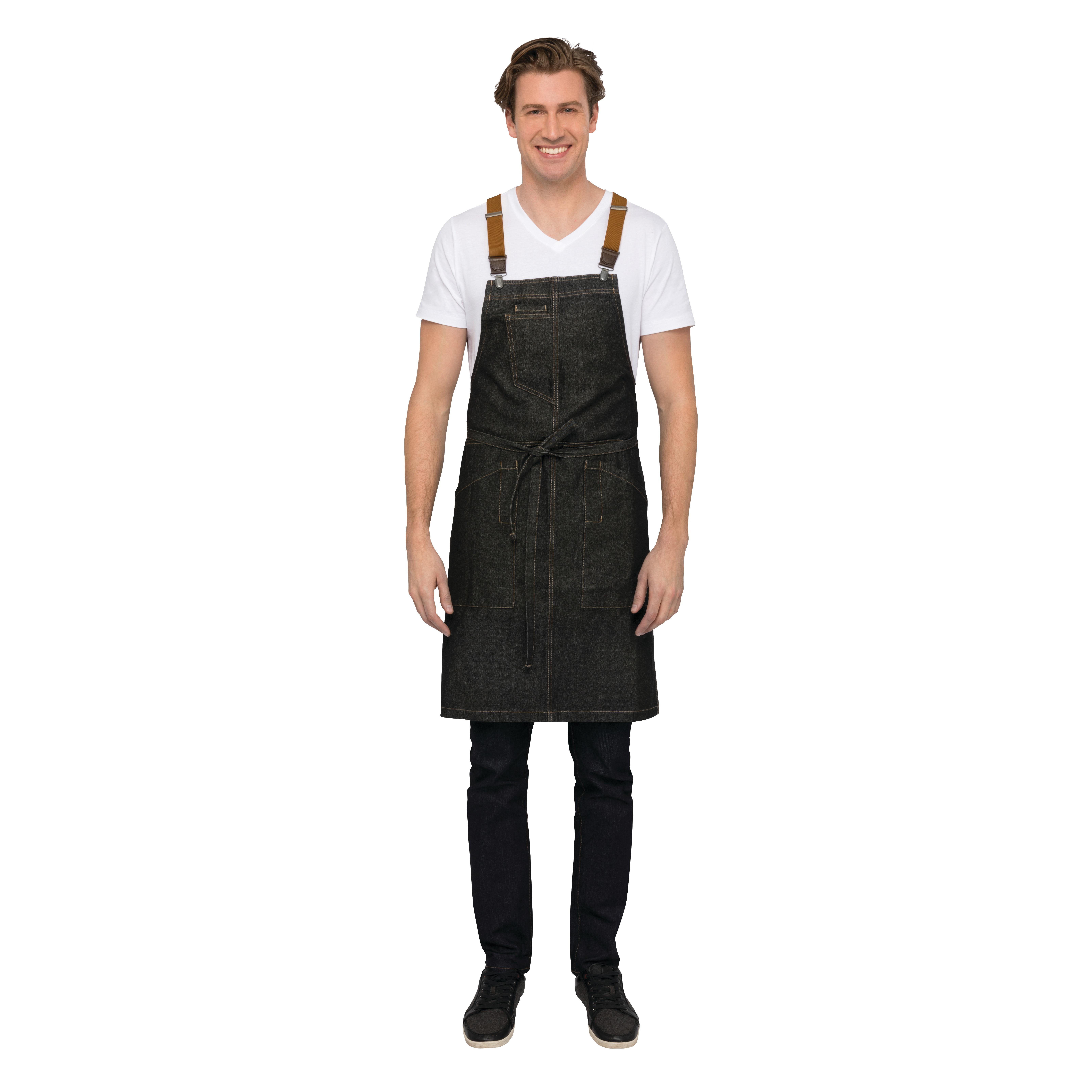 Chef Works ABS01BLK0 bib apron