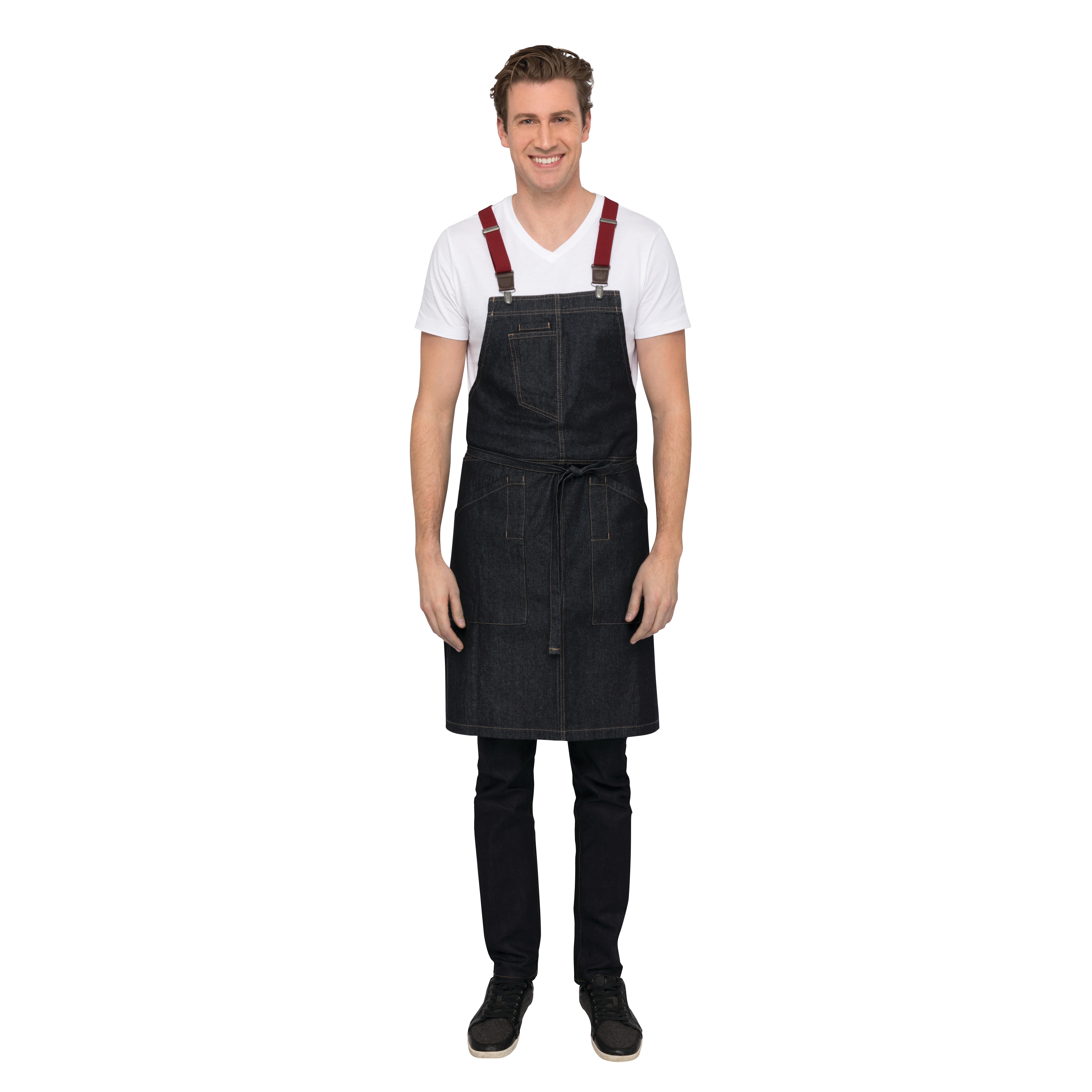 Chef Works ABS01IBL0 bib apron