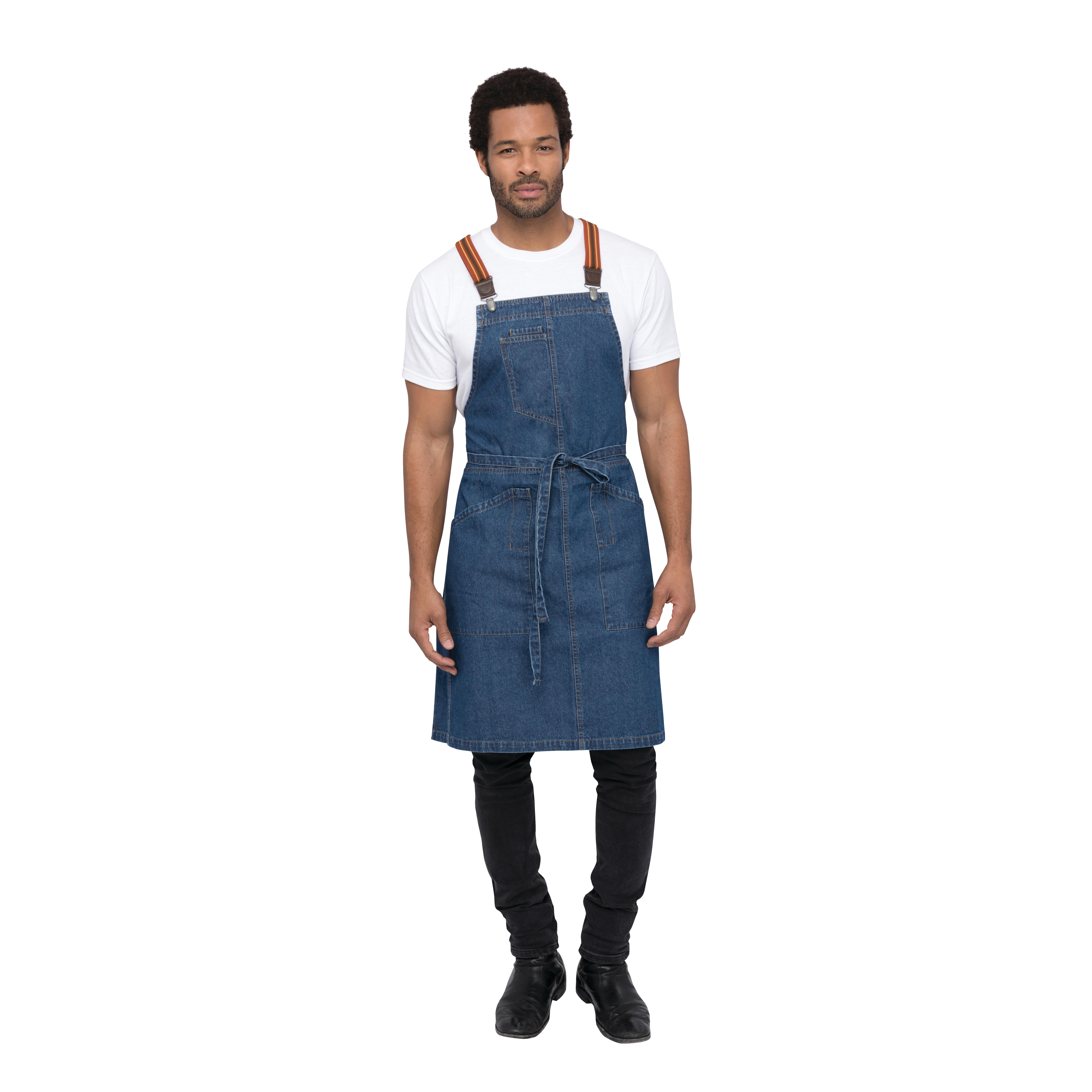 Chef Works ABS01MDB0 bib apron
