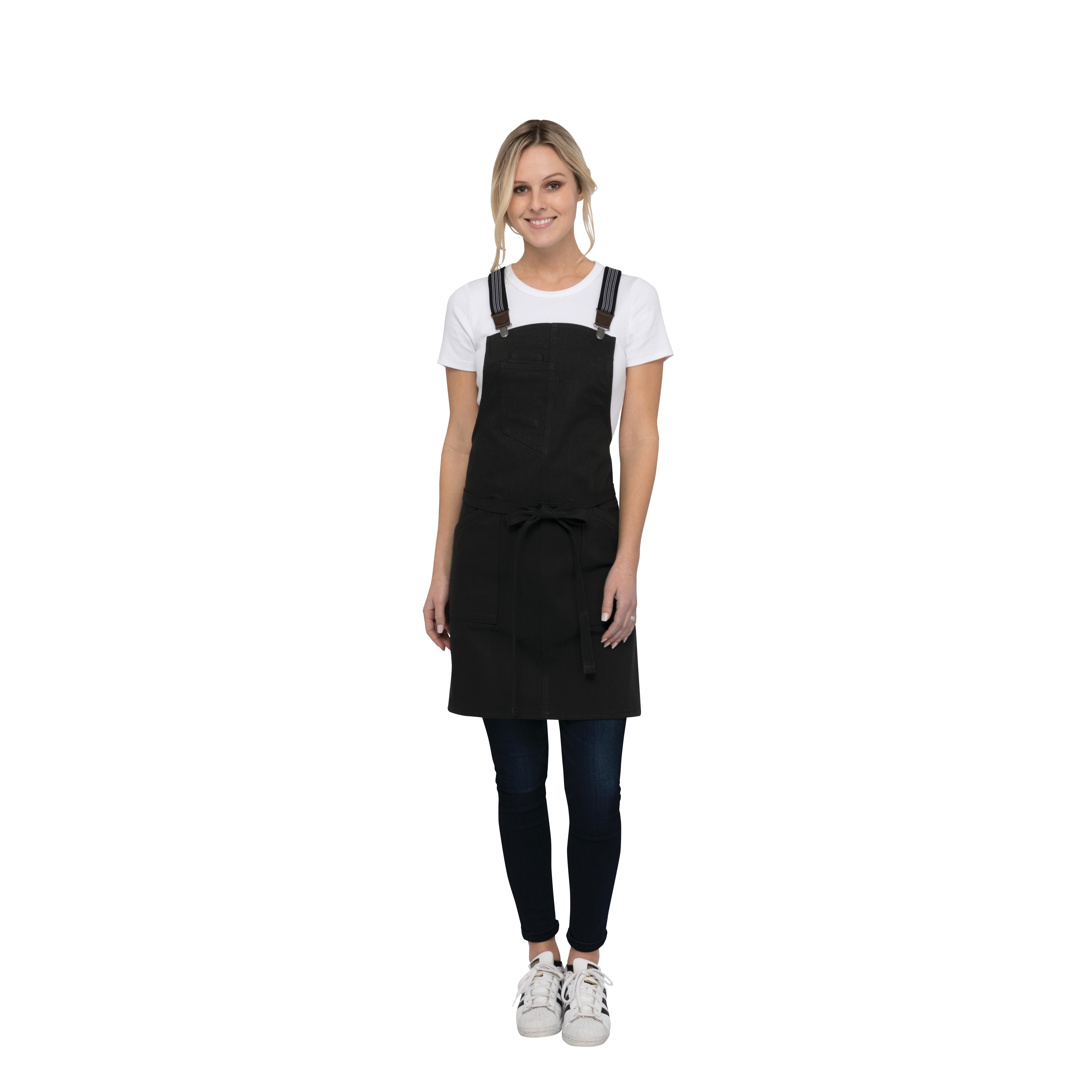 Chef Works ABS01WJBK0 bib apron