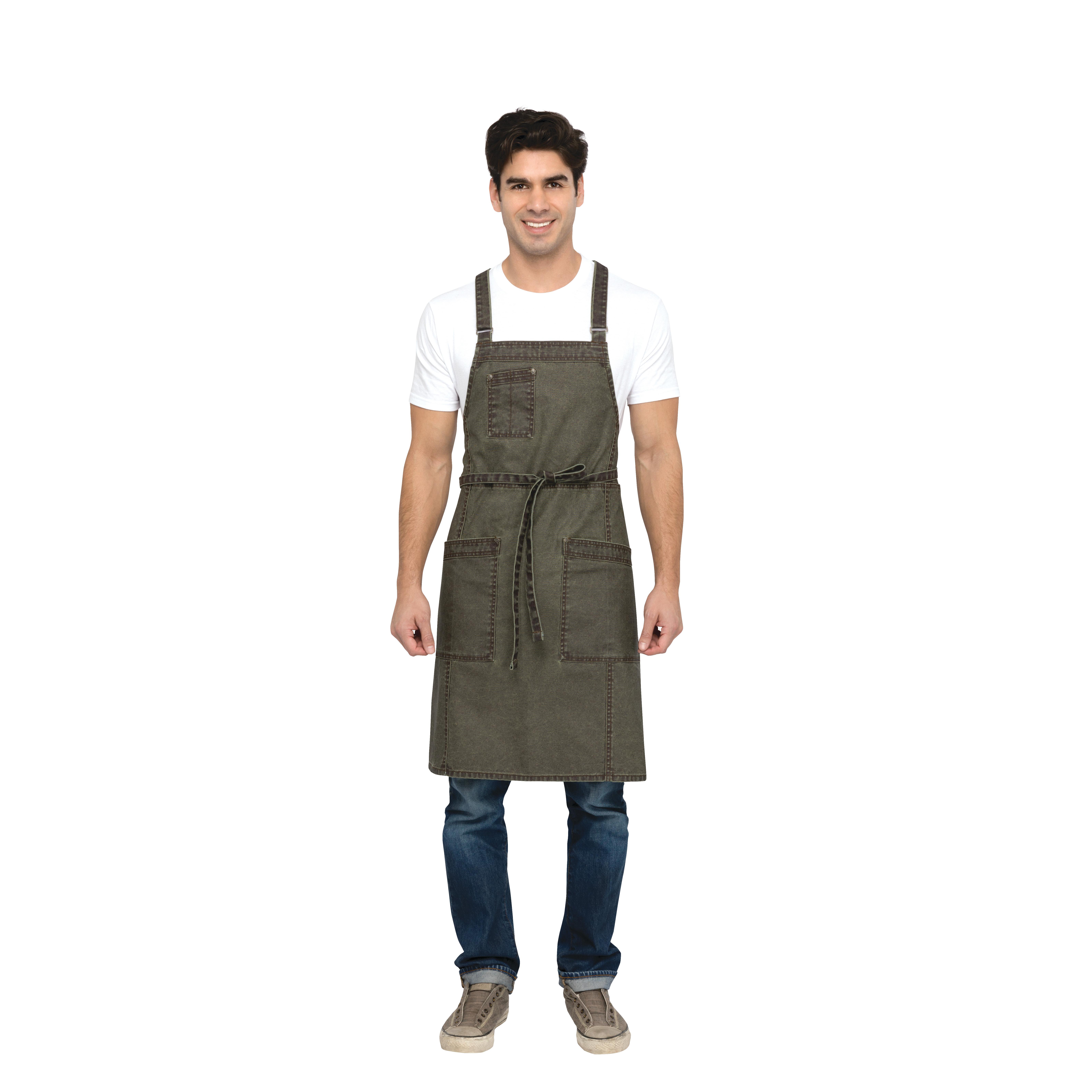 Chef Works ABX02OLW0 bib apron