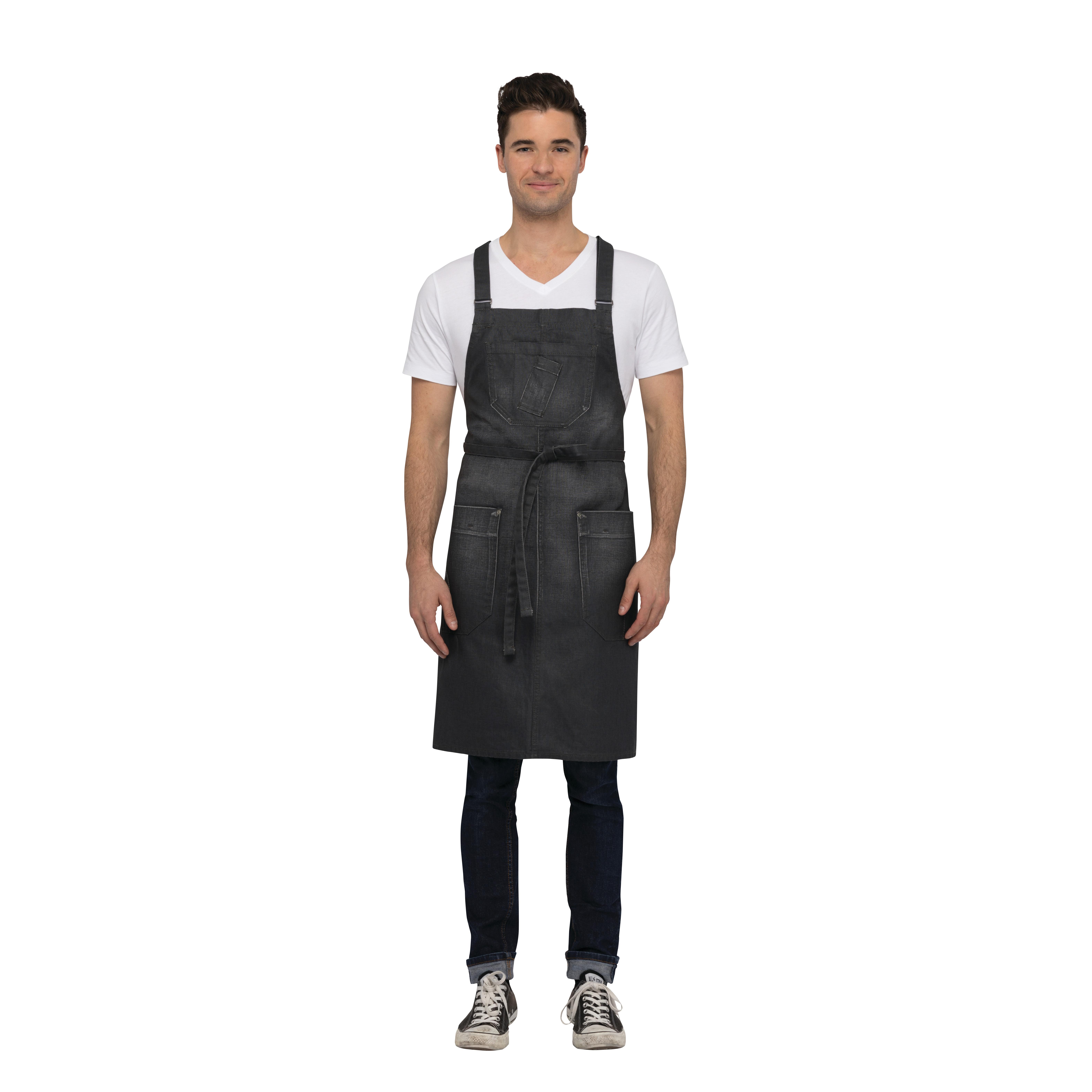 Chef Works ABX03GRY0 bib apron