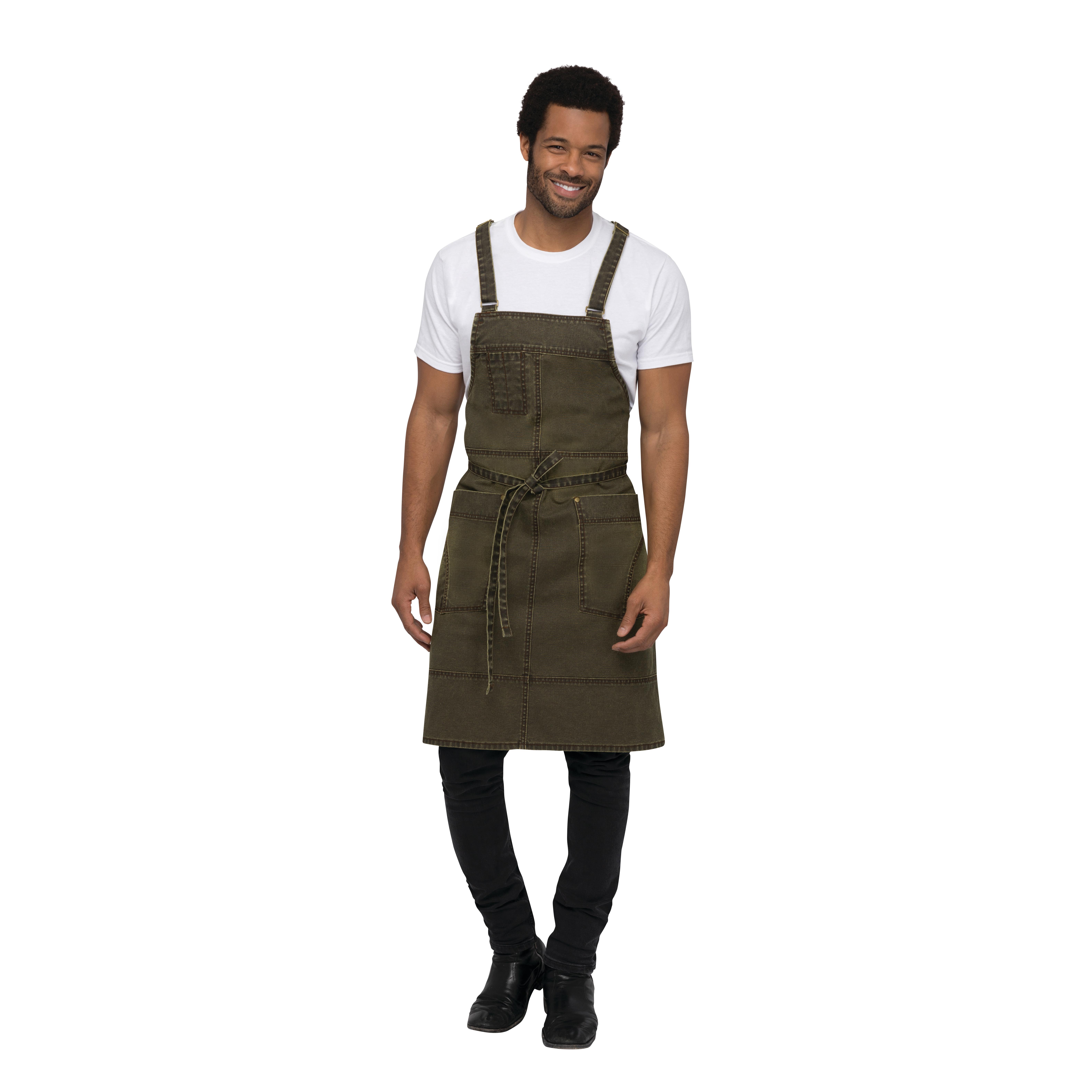 Chef Works ABX04MAI0 bib apron