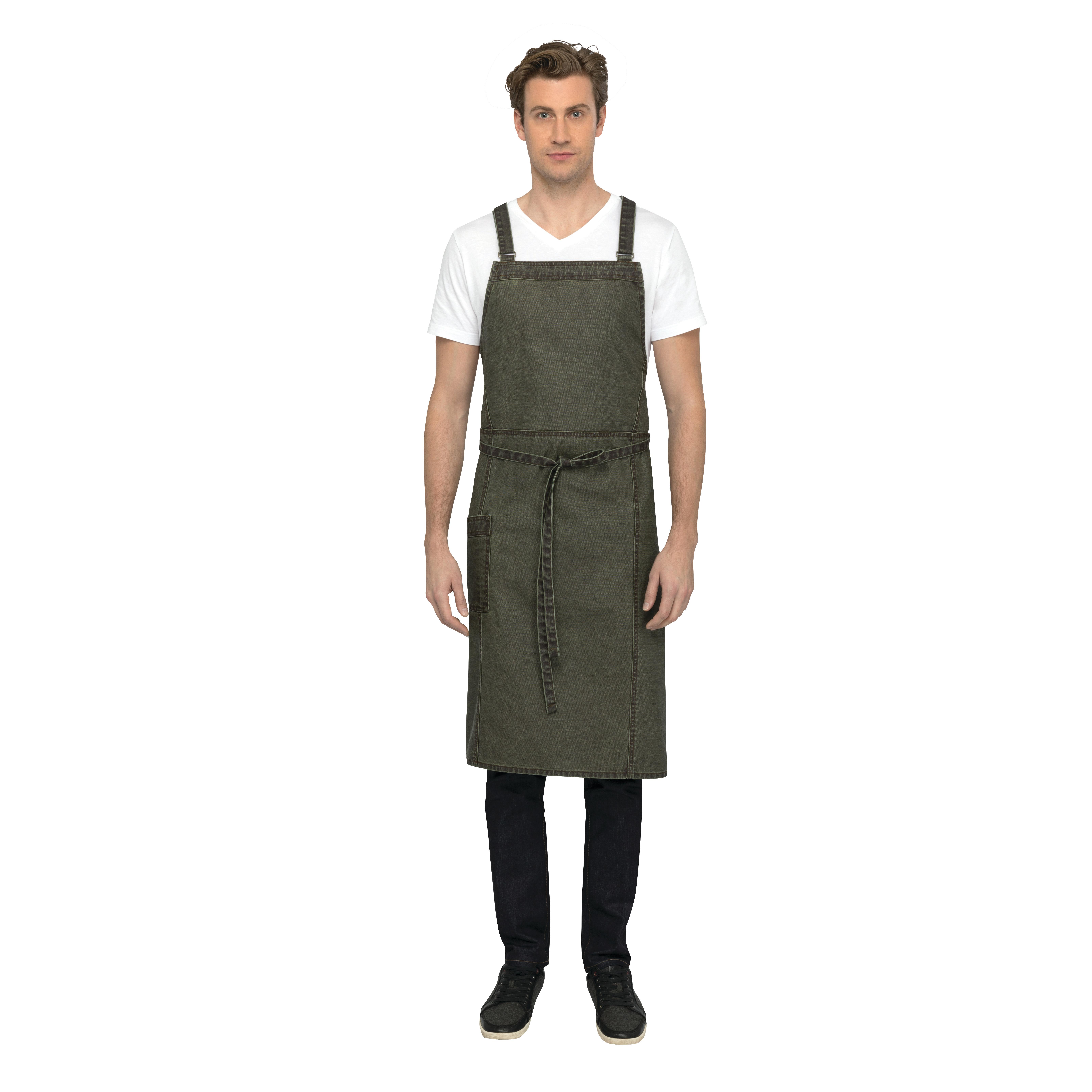 Chef Works ACX01OLW0 bib apron