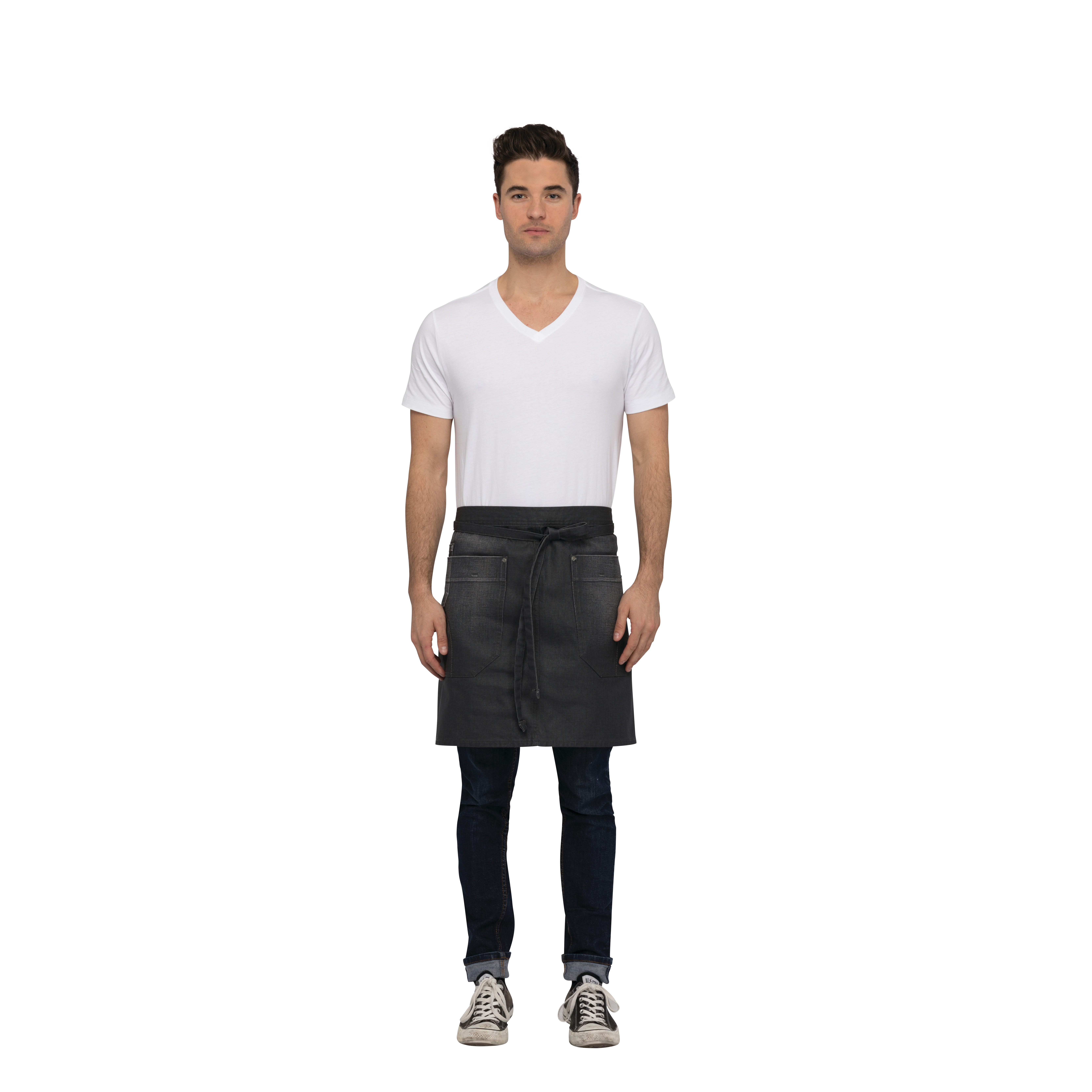 Chef Works AHN04GRY0 waist apron