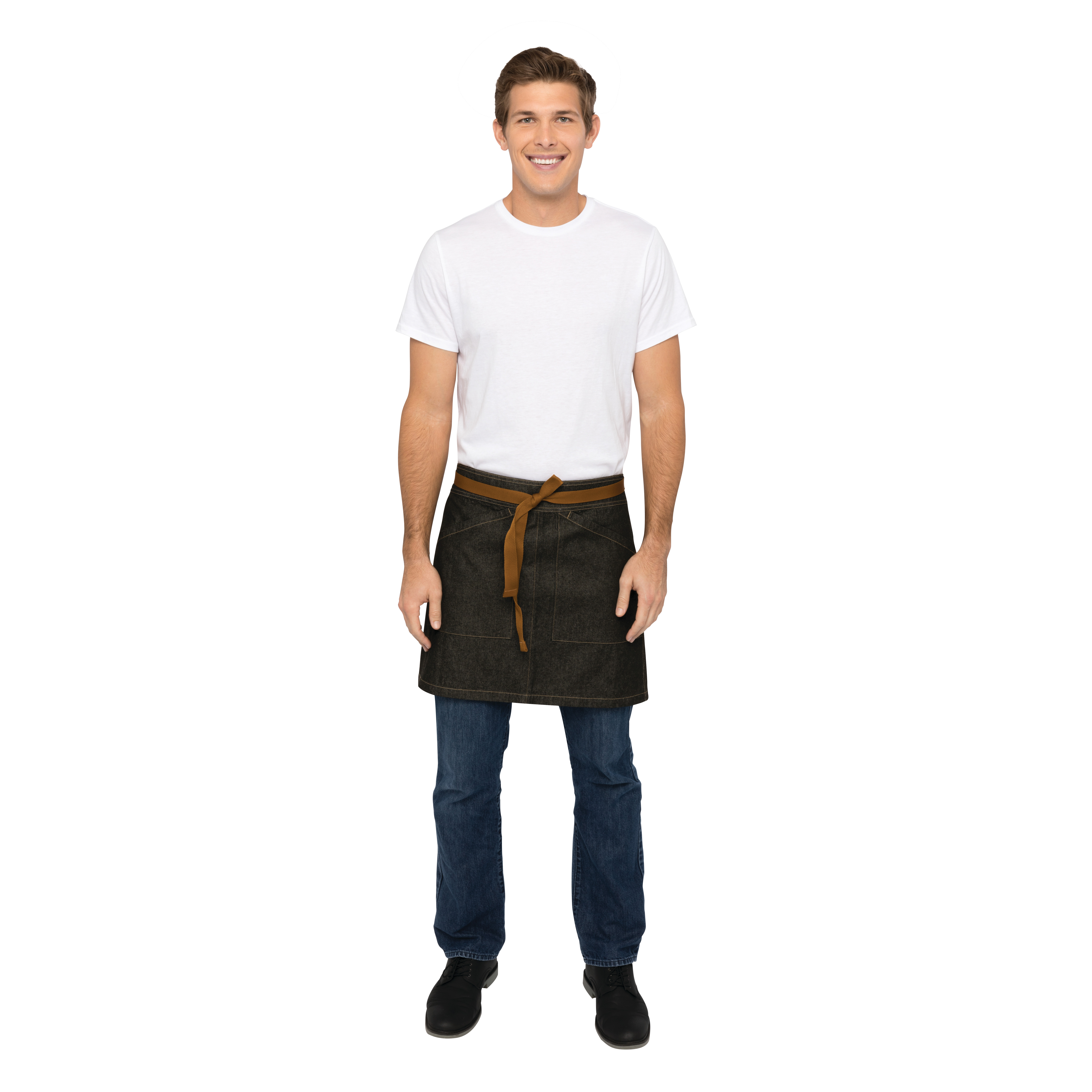 Chef Works AHS01BLK0 waist apron