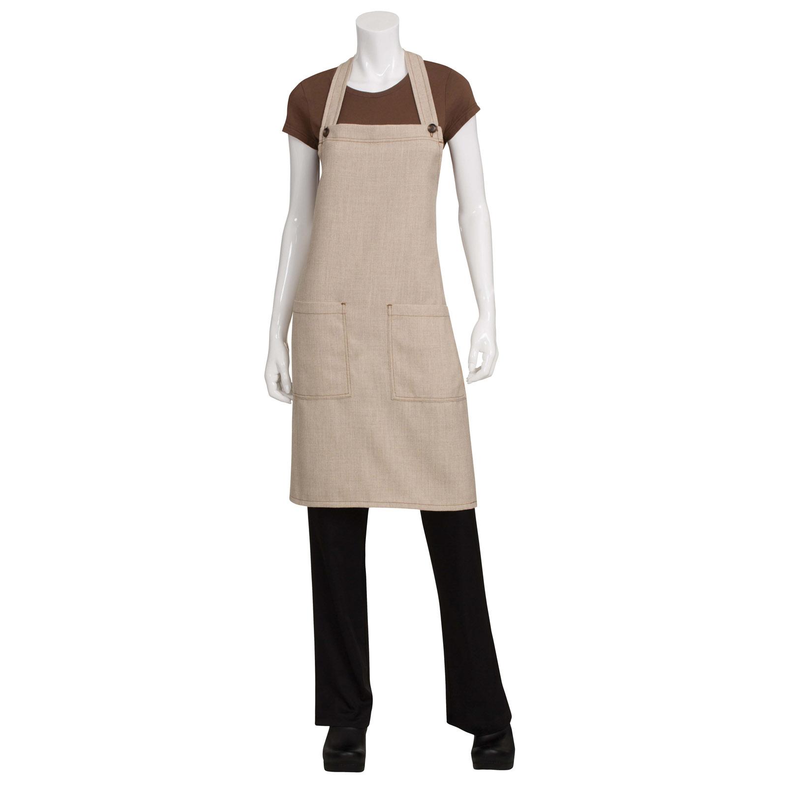 Chef Works ASCB12NAT0 bib apron