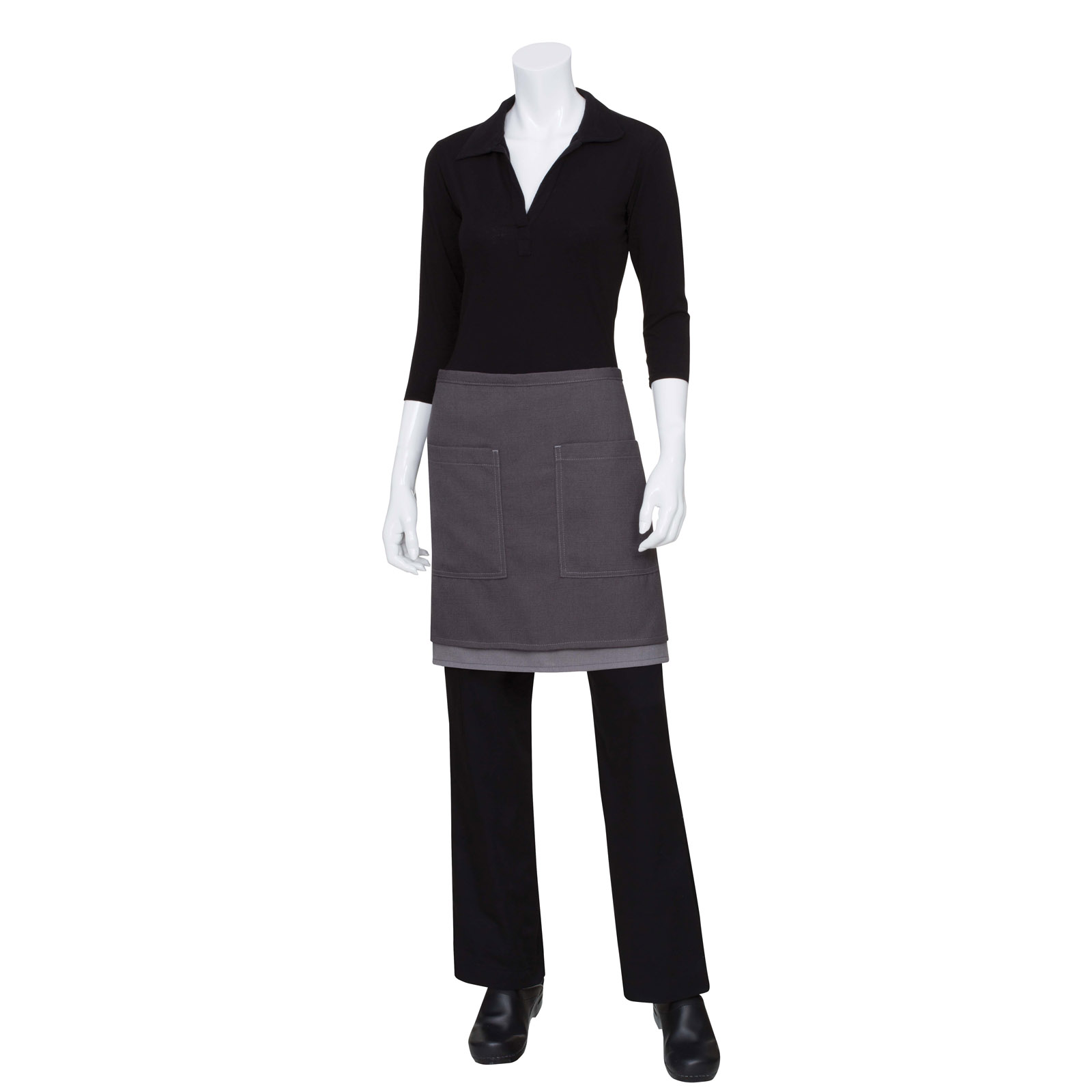 Chef Works ASCW12GGY0 waist apron