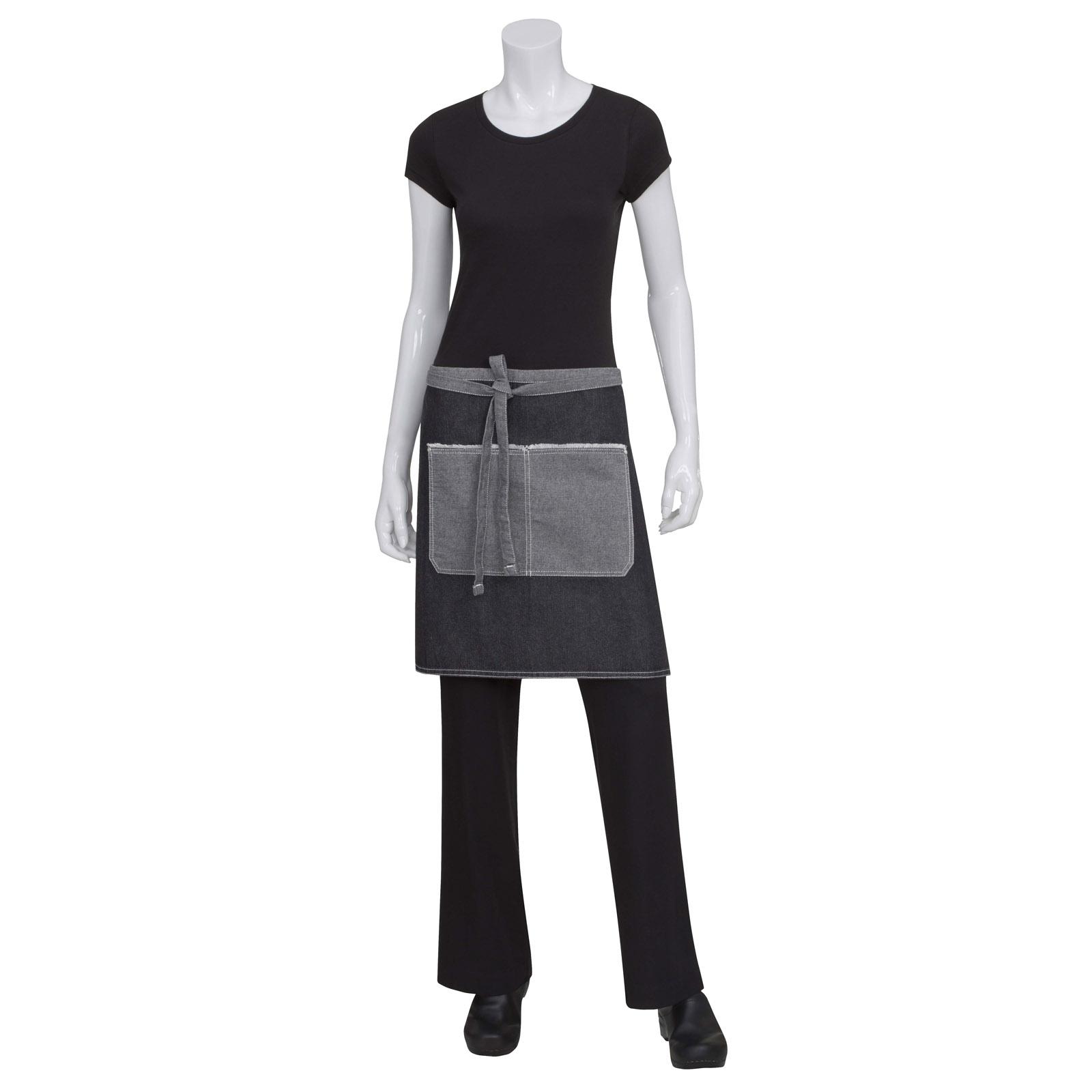 Chef Works AW044BLK0 waist apron
