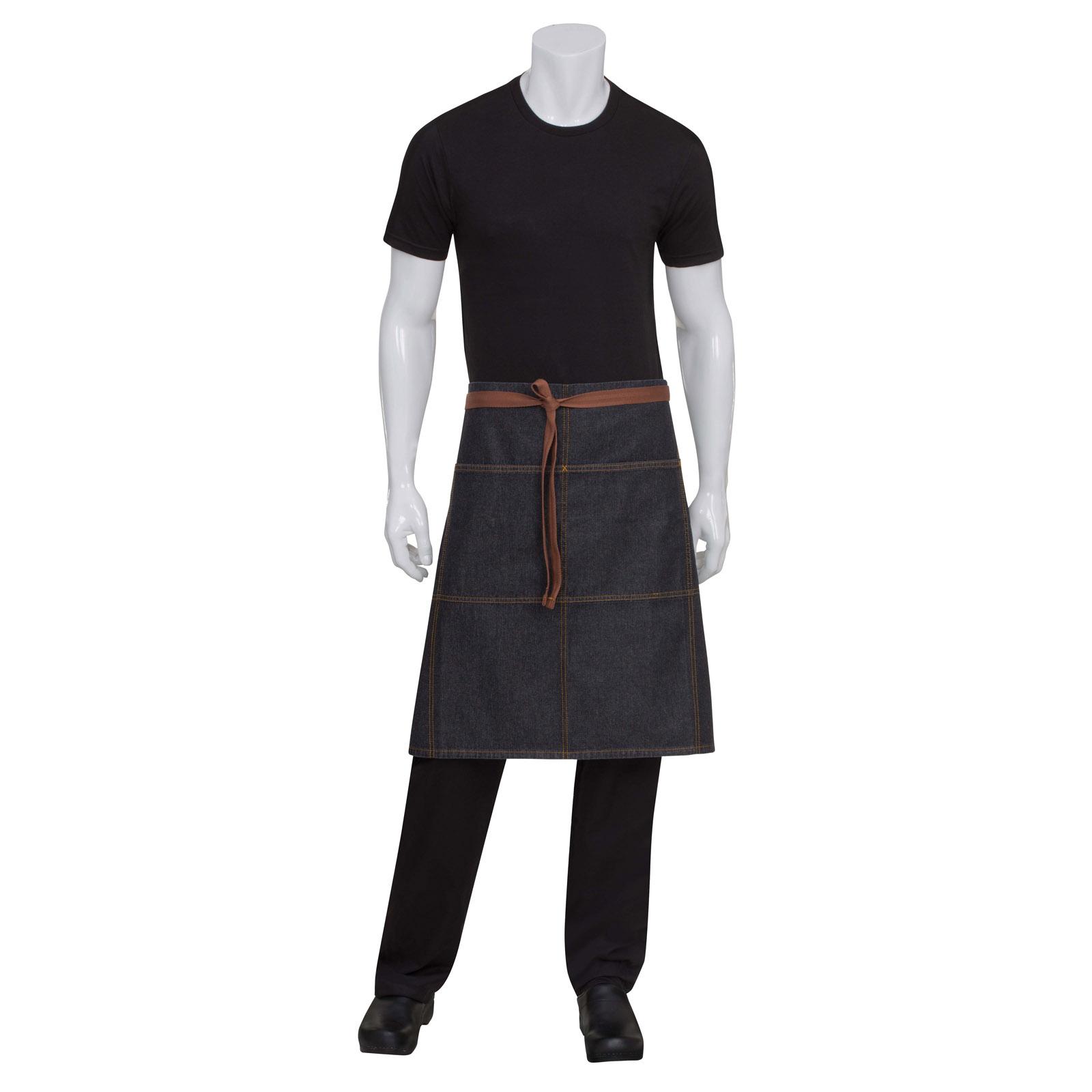 Chef Works AW049BLK0 waist apron
