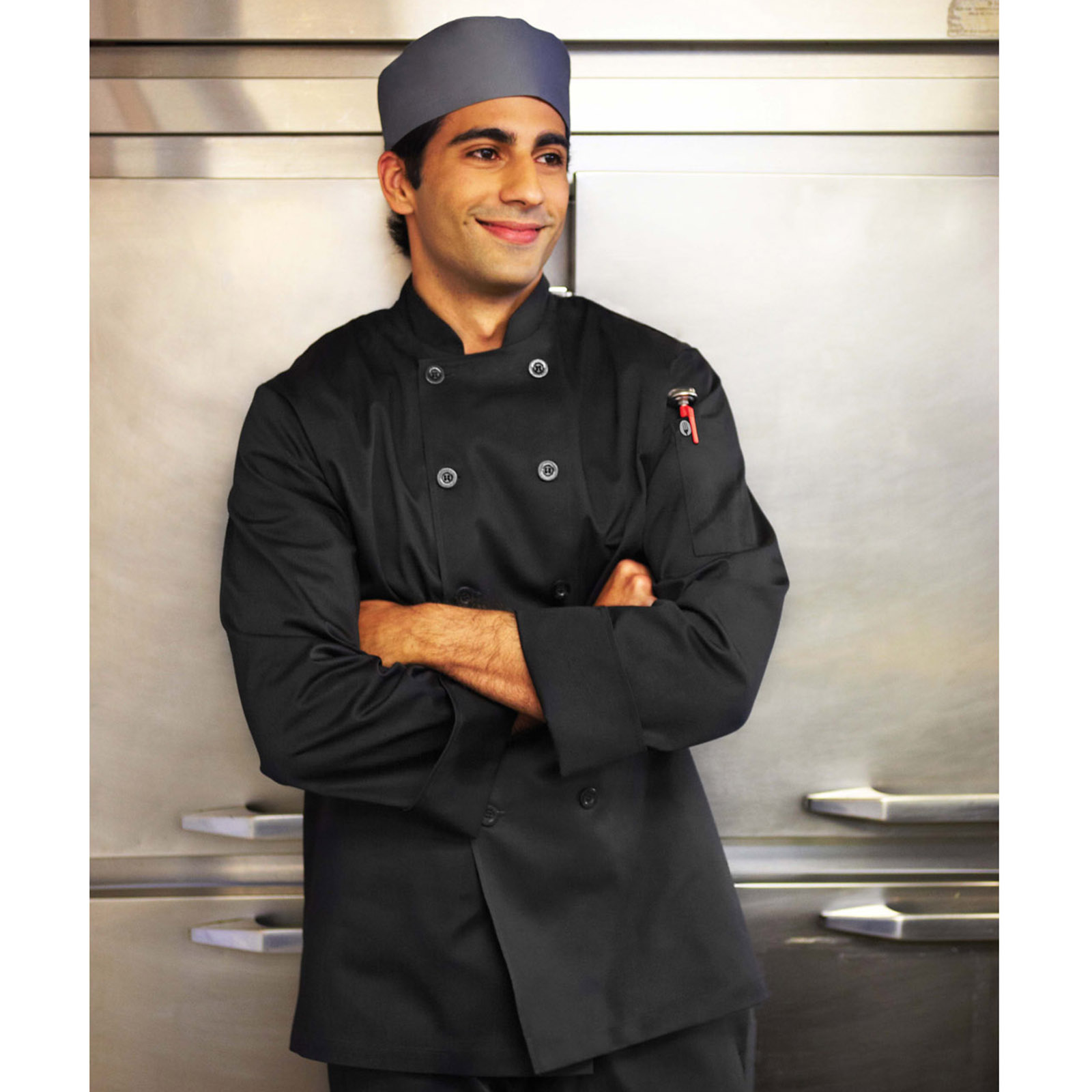 Chef Works BASTBLK2XL chef's coat