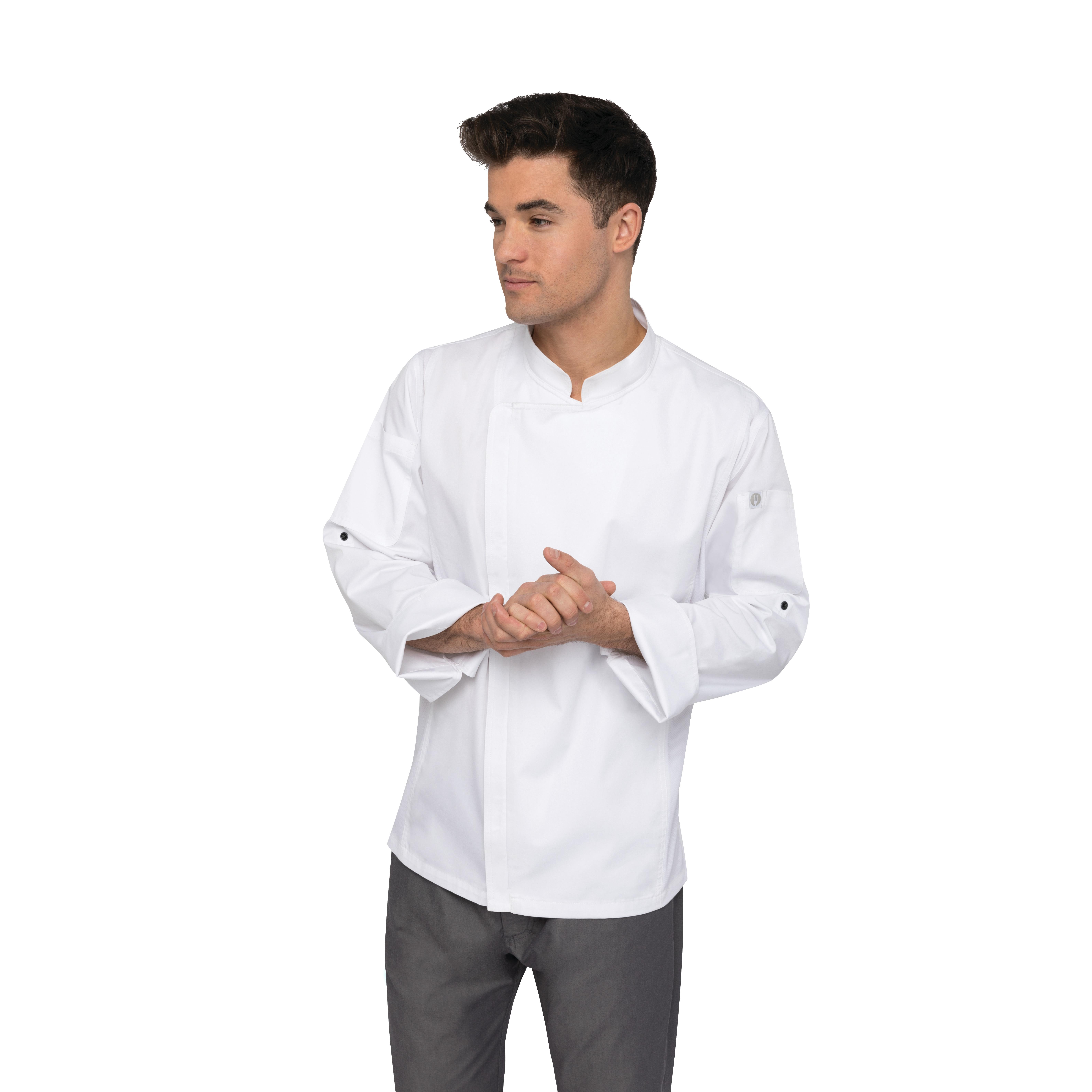 Chef Works BCLZ008WHT2XL chef's coat