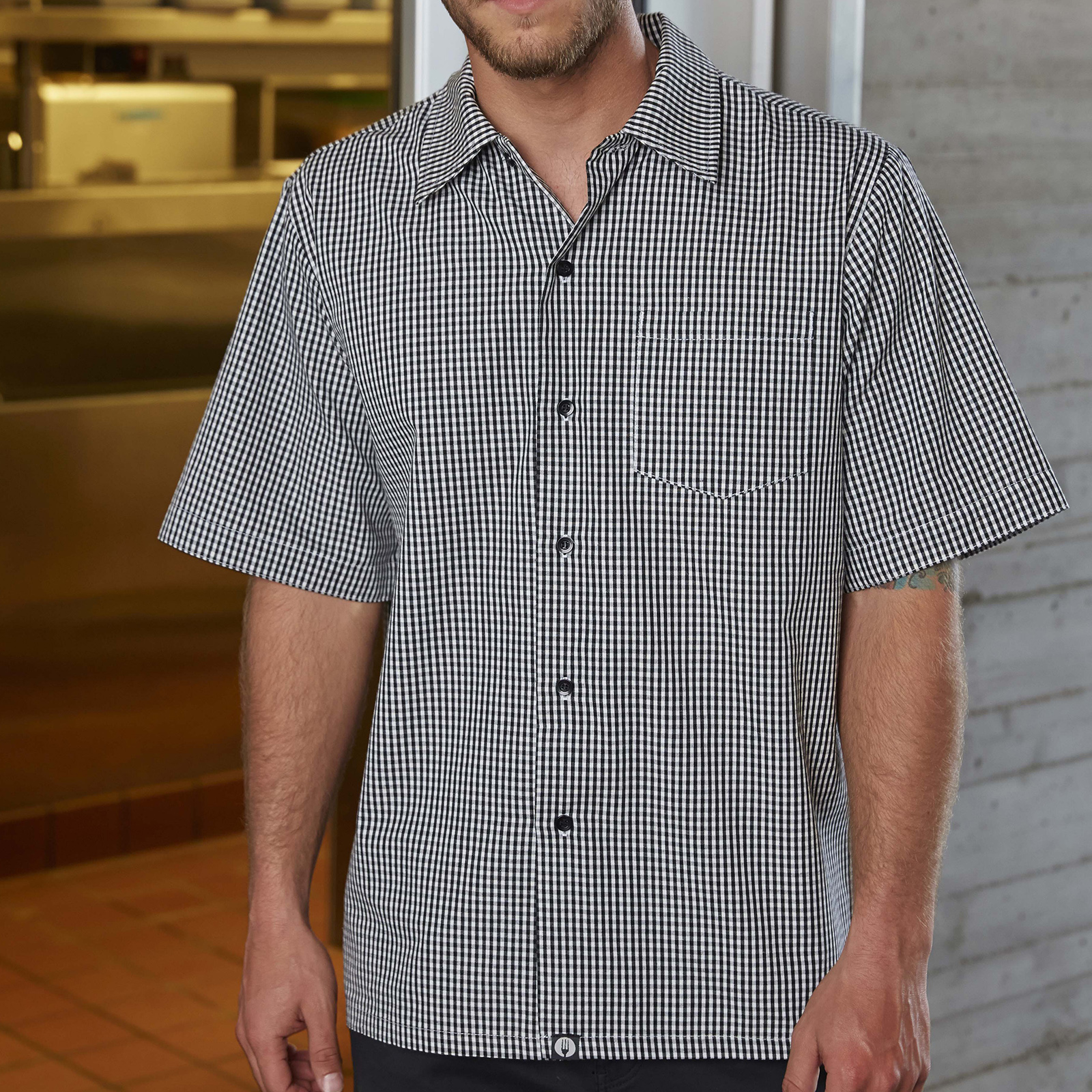 Chef Works CSCKBWCS cook's shirt