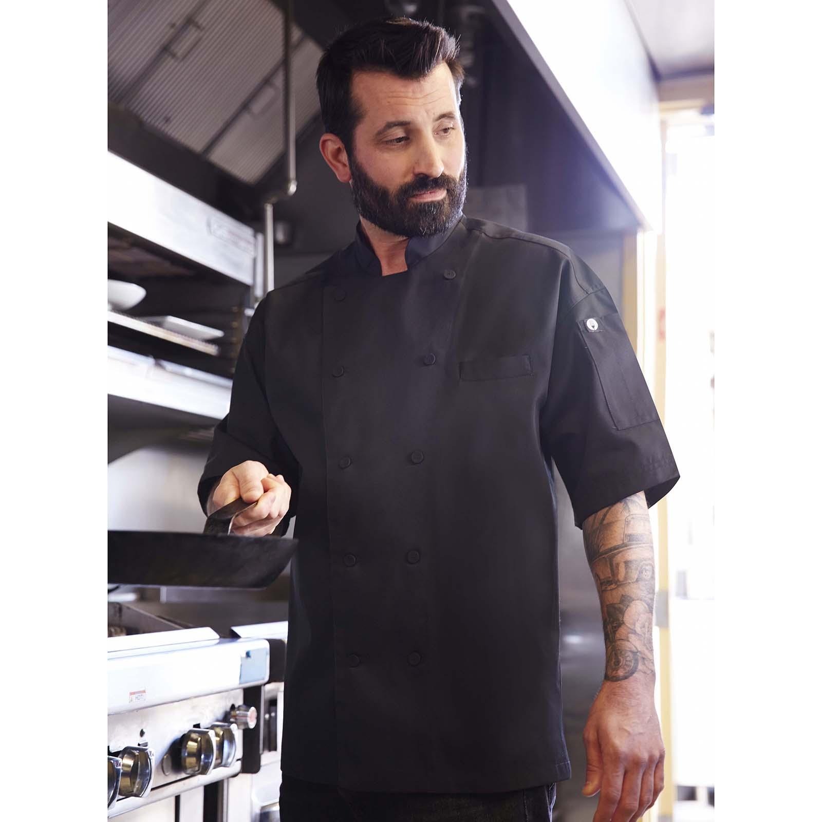 Chef Works EWCVBLK2XL chef's coat