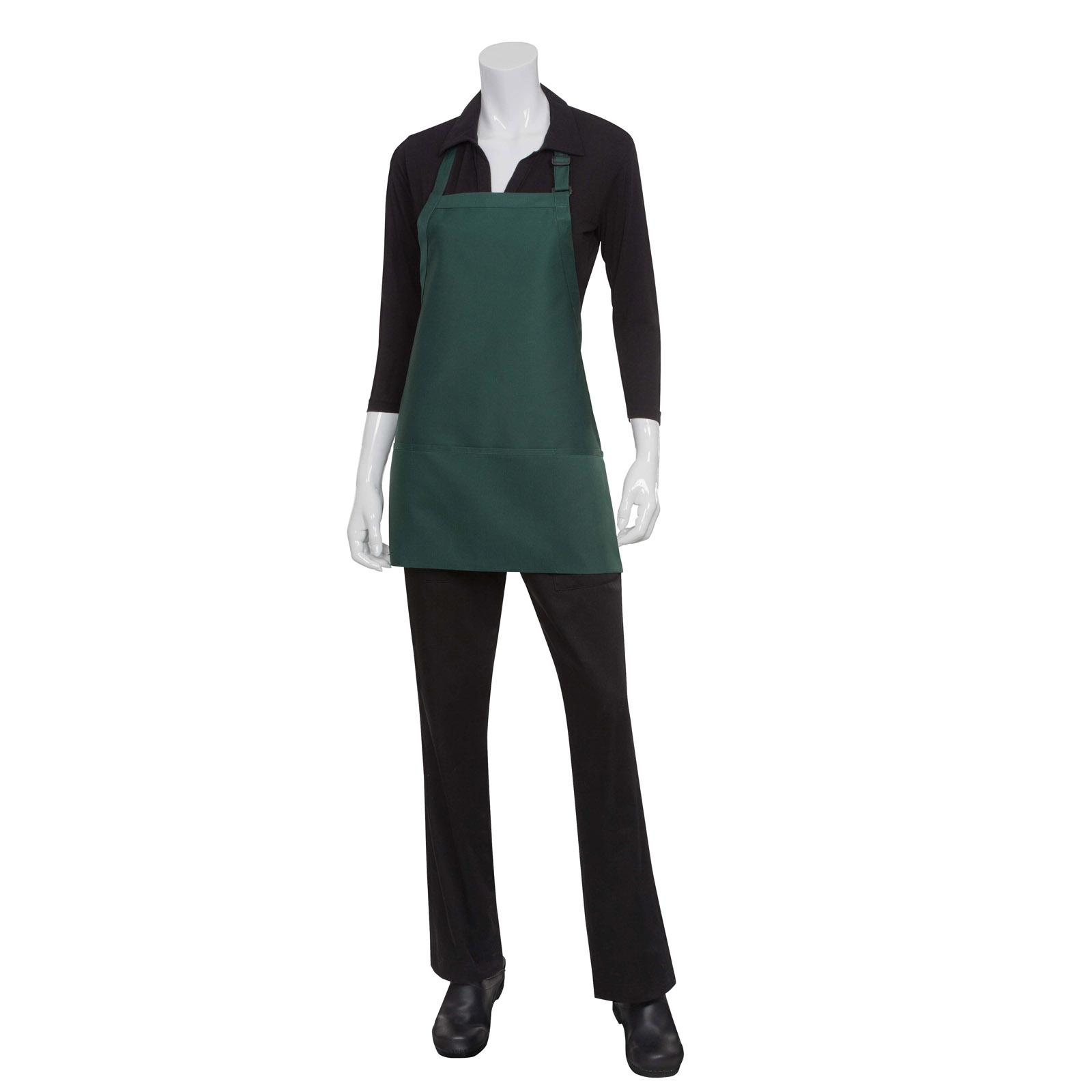 Chef Works F10 WHT0 bib apron