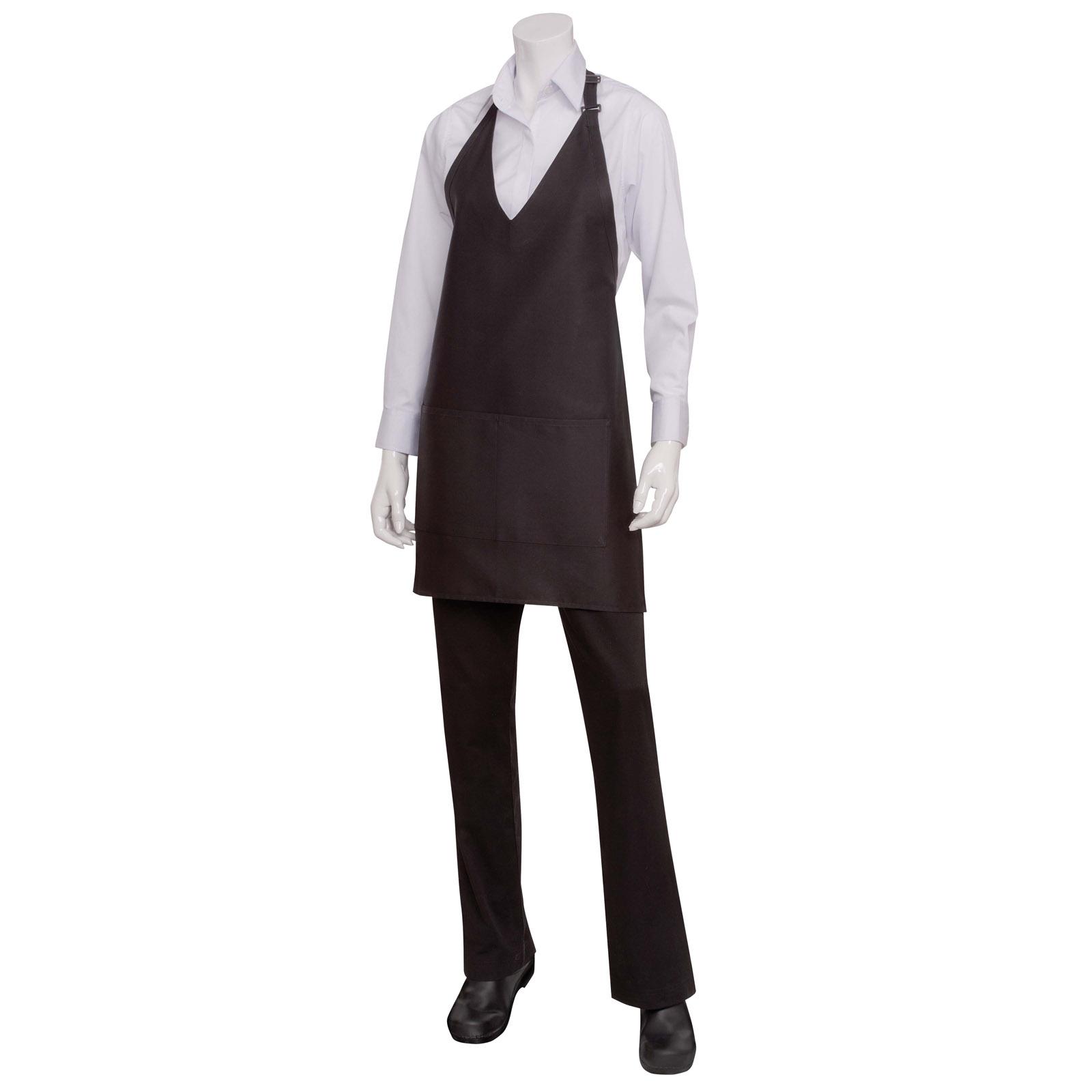 Chef Works F23 BLK0 bib apron