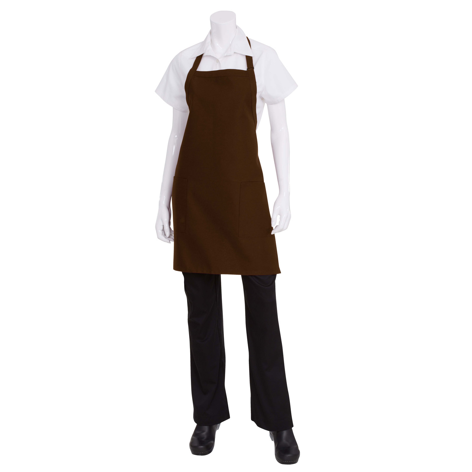 Chef Works F53 BLK0 bib apron
