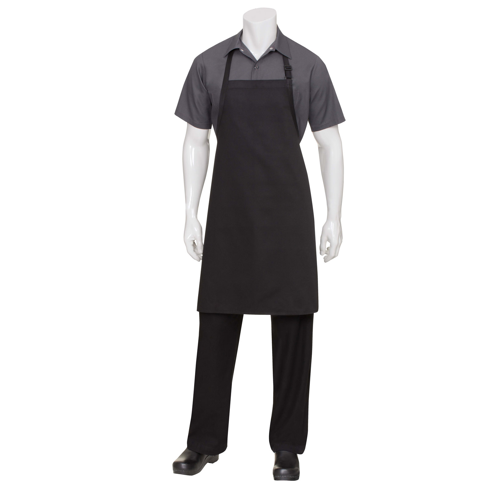 Chef Works F8 BLK0 bib apron