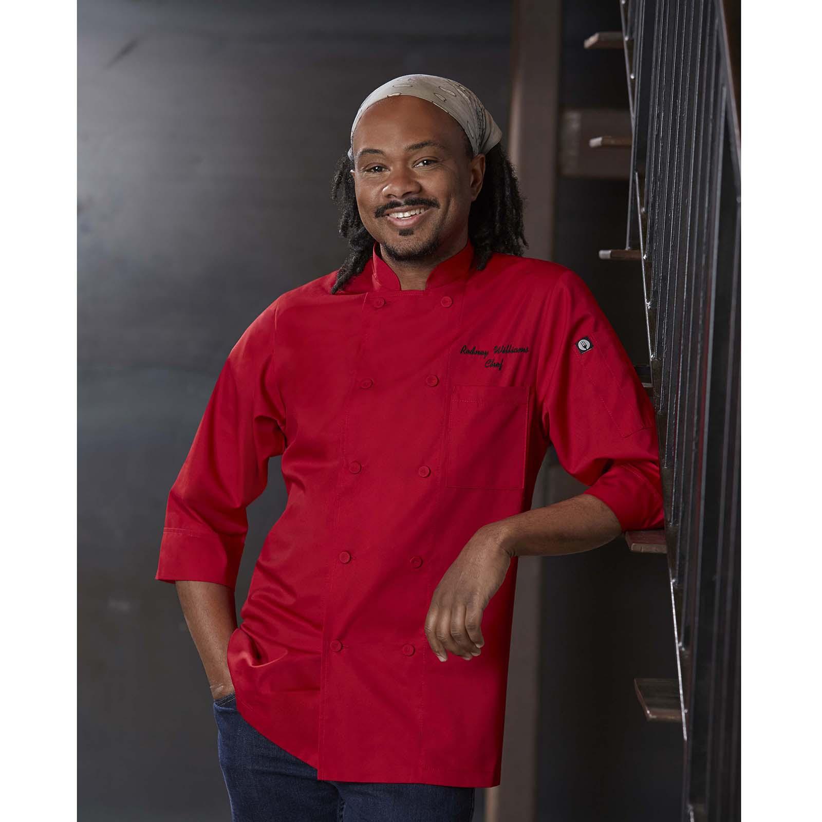Chef Works JLCLBLK2XL chef's coat