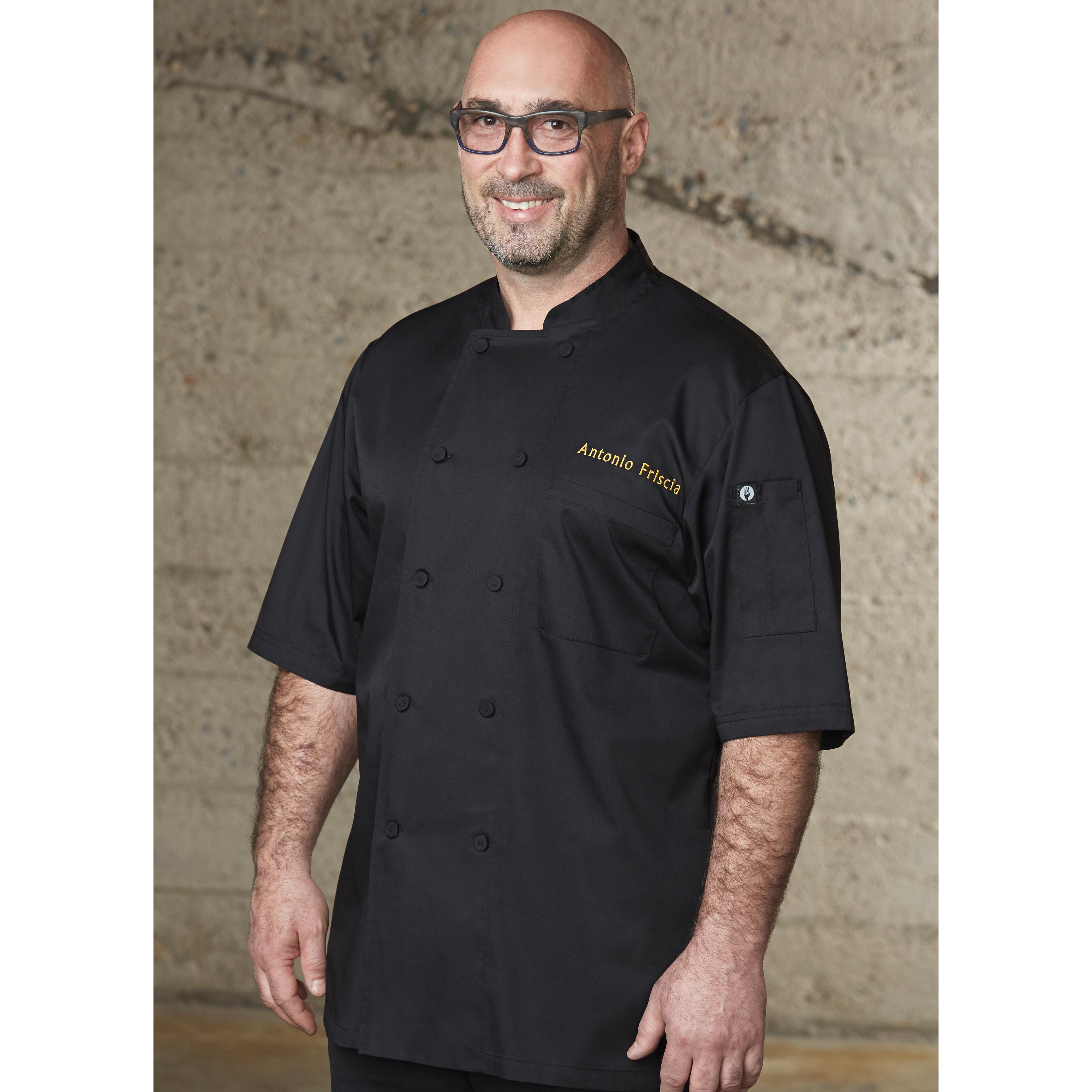 Chef Works JLCVBLKXS chef's coat
