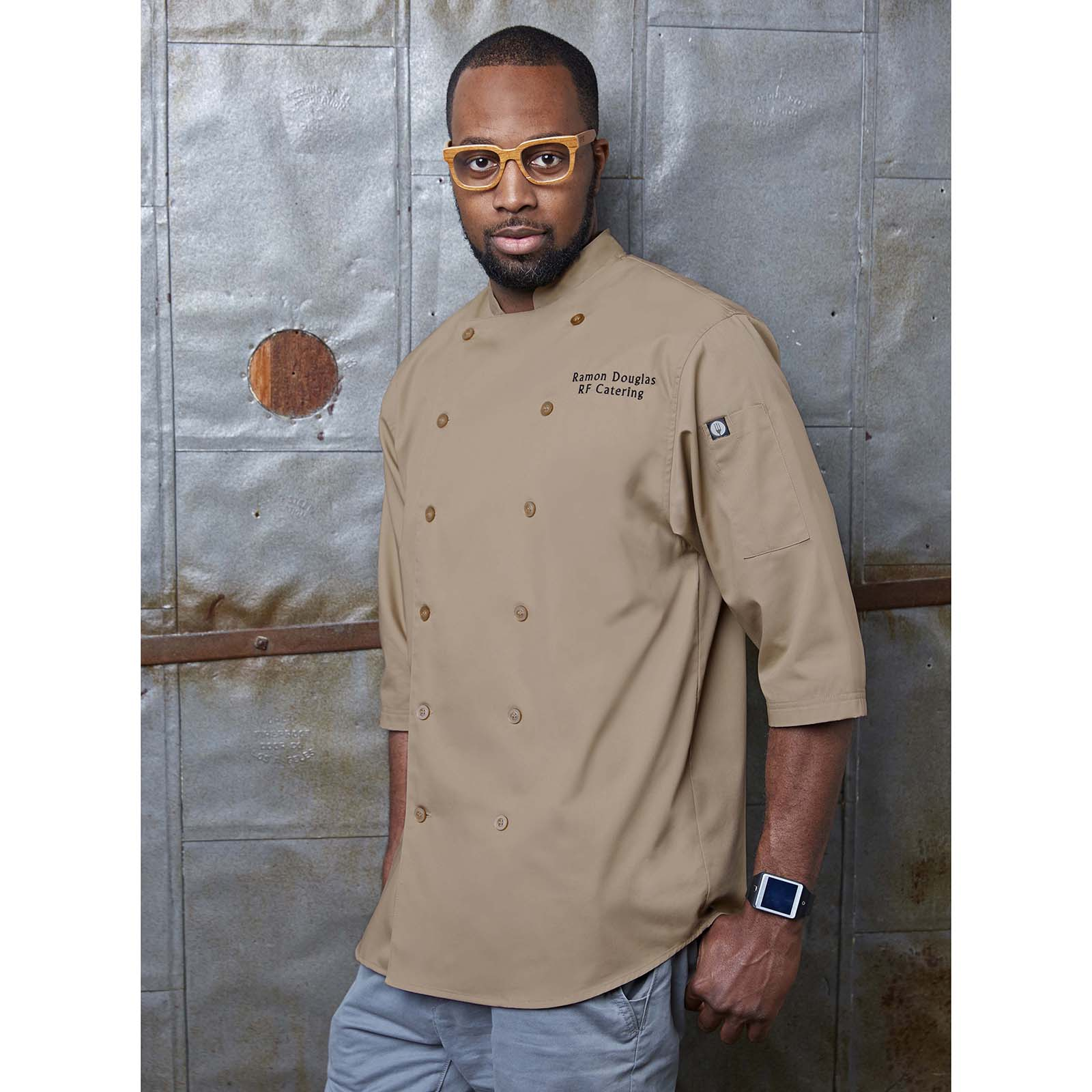Chef Works S100BLK2XL chef's coat