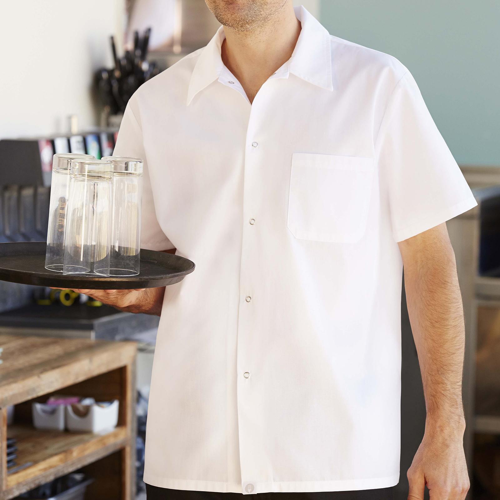 Chef Works SHYKWHT4XL cook's shirt