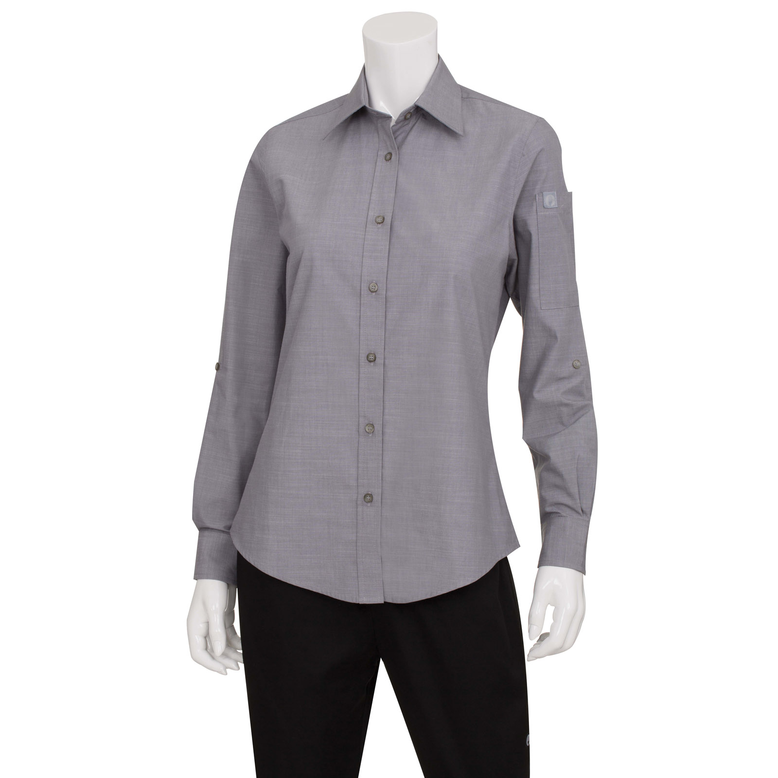 Chef Works SLWCH002GRY2XL dress shirt