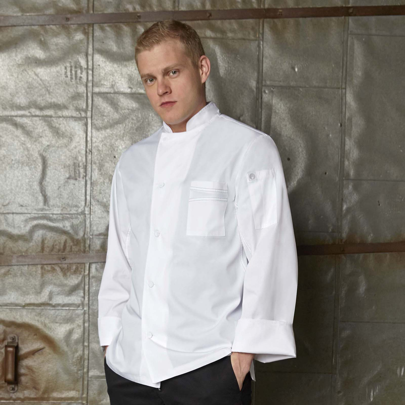 Chef Works VSSSBBK3XL chef's coat