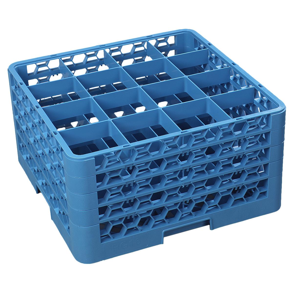 Carlisle RG16-414 dishwasher rack, glass compartment