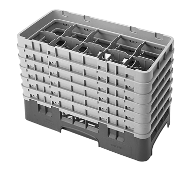 Cambro 10HS1114167 dishwasher rack, glass compartment