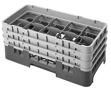Cambro 10HS638119 dishwasher rack, glass compartment