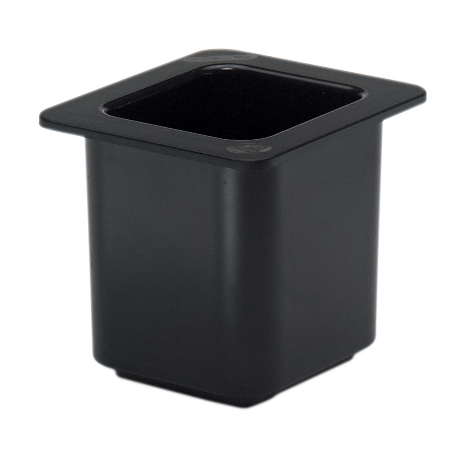 2410-20 Cambro 66CF110 Chiller 1/6size Black food pan,  plastic