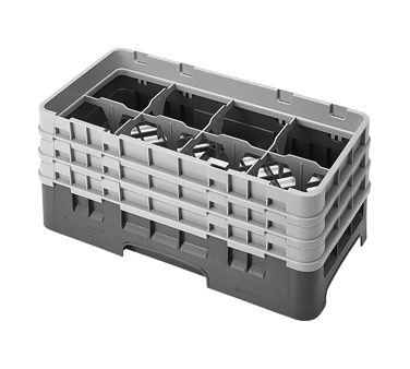 Cambro 8HS638151 dishwasher rack, glass compartment