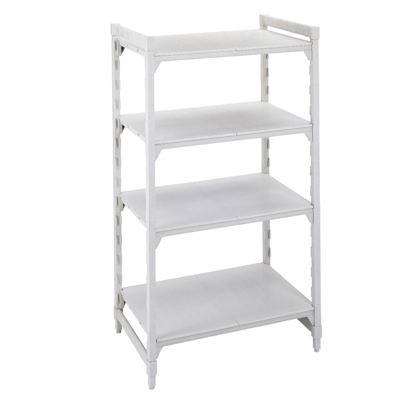 Cambro CPU212464S4480 shelving unit, plastic with poly exterior steel posts