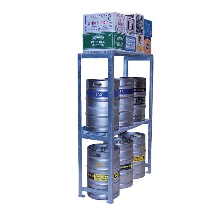 Cooler Concepts Inc. SKSTCS64-EX keg storage rack